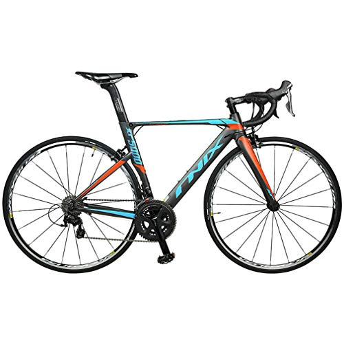 Mzq-yj Adulto Bicicleta de Carretera, 22 de Velocidad Ultra Ligera de Aluminio Camino de la Bicicleta, la Fibra de Carbono Tenedor, Deporte híbrido de Carreras de Bicicletas, 700C Wheel