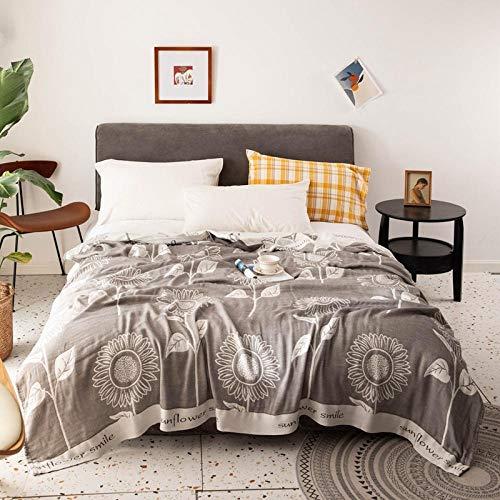 Asbecky Luxurious Fleece Blanket Bamboo fiber gauze bamboo cotton blanket - Ultra Soft - Lightweight Neutral Colors - Cotton Blanket-11_150x200cm