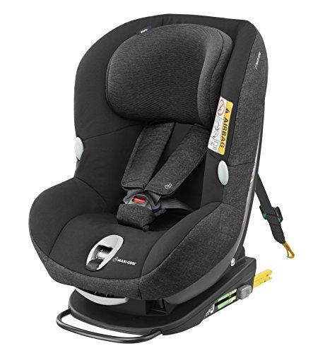 Maxi-Cosi Milofix Silla coche isofix y reclinable, silla auto bebé 0 - 18 kg, desde nacimiento hasta 4 años, grupo 0+/1, color nomad black