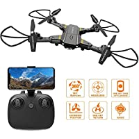 Falcorc Foldable Mini RC Drone With 720P WiFi Camera 2.4Ghz 6-Axis Gyro 2.4G Drone Selfie Quadcopter Remote Control Helicopter