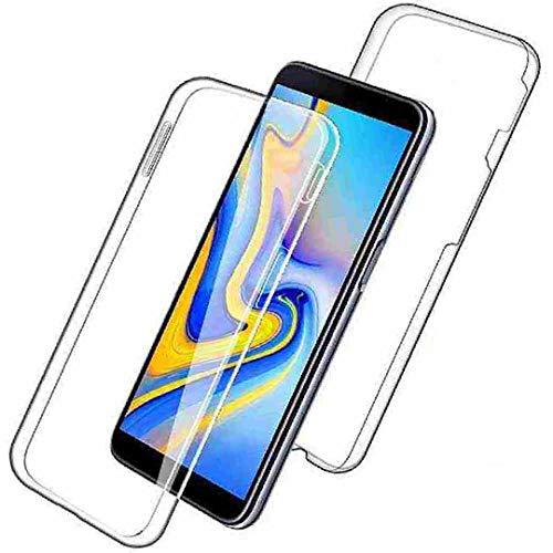 Funda para Galaxy J7Prime 2 On7, transparente Encase Wrap Soft Front+Hard Back Nueva Slim Wrap Cover Cubierta Delgada DANGE Luz Artificial Anti-Arañazos Carcasa para Samsung Galaxy Nxt