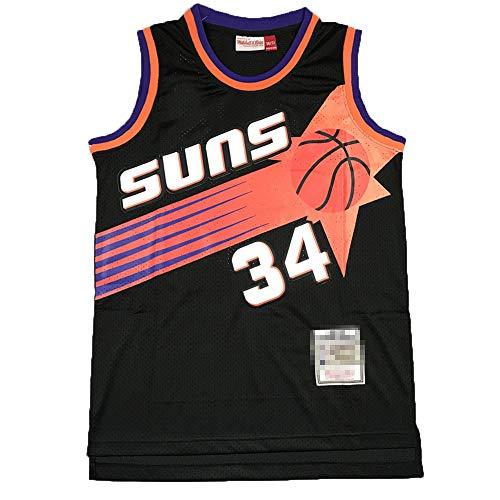 Camiseta de baloncesto sin mangas para hombre, diseño de Charles Phoenix NO.34 Suns Barkley Hardwood Classics, camiseta de baloncesto uniforme de secado rápido transpirable sudadera