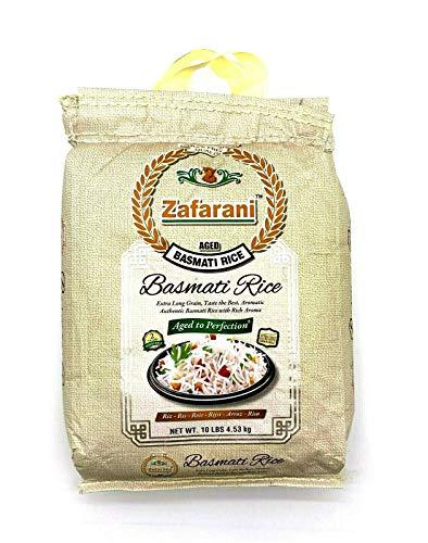 Zafarani Aged Basmati Rice Extra Long Grain 10 Lbs أرز الزعفراني بسماتي حبة طويلة