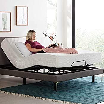LINENSPA Motorized Head and Foot Incline-Quick and Easy Assembly-Full Adjustable Bed Base Black