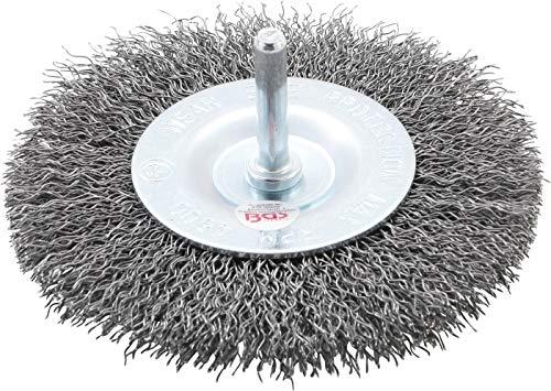 BGS 3077 | Scheibenbürste | Ø 100 mm | für Bohrmaschinen / Schrauber | Schleifzubehör