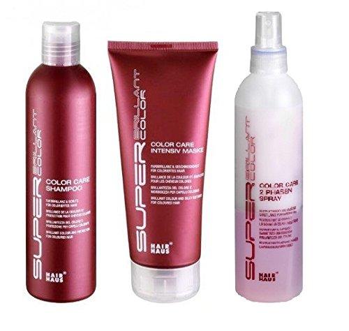 SBC Color Care Set: shampoo 250 ml & Maschera 200 ml & spray 2 fasi 250 ml