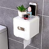 Cuarto de baño A prueba de agua Caja de pañol impermeable Tenedor de papel higiénico Montaje de pared Montaje inodoro Papel de papel Estante Papel de papel Caja de almacenamiento Cuadrado Cocina Cuart