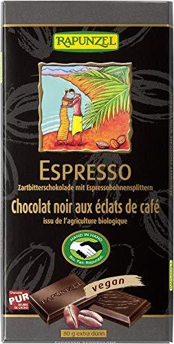 Rapunzel Bio Zartbitter Schokolade mit Espresso-Splittern 51% (6 x 80 gr)