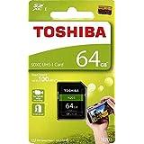 Toshiba 64GB N203 SDXC UHS-Iカード U1 クラス10 SDカード メモリカード 100MB/s (THN-N203N0640A4)