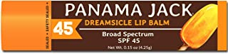 Panama Jack SPF 45 Sunscreen Lip Balm, Broad Spectrum, Prevents & Soothes Dry, Chapped Lips (Dreamsicle, Pack of 1)