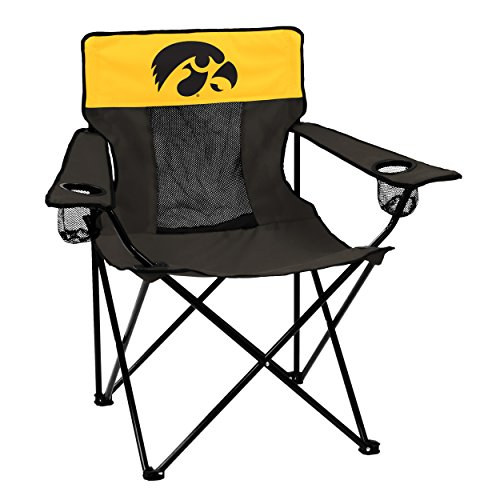 logobrands Officially Licensed NCAA Unisex Elite Chair, One Size,Iowa Hawkeyes
