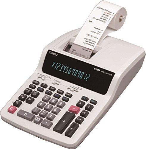 Casio DR-120TM Escritorio - Calculadora (Escritorio, Calculadora de impresión, 12 dígitos, 1 líneas, Blanco)