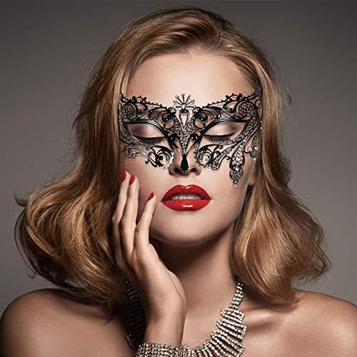 Lady of Luck Mascarada Carnaval, Máscara de Encaje Negra Máscara de Veneciano Fiesta de Baile