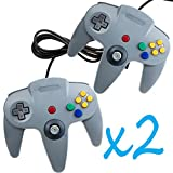 2 PCS NEW Long Controller Game System for Nintendo 64 N64 Grey