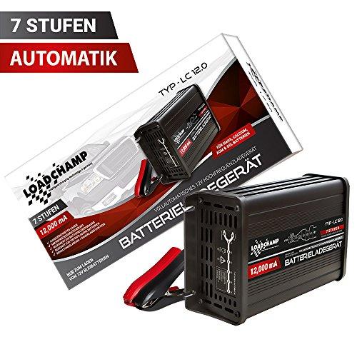 Loadchamp 12A automatisches Batterie Ladegerät AGM Gel Calcium Auto LKW Batterie 12V