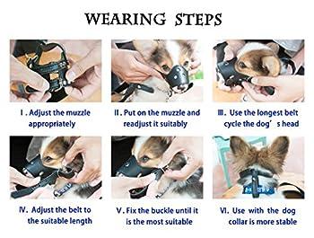 JUNMO® chien en cuir Muselière anti-aboiement pour les grands chiens de petite taille moyenne (Marron, M)