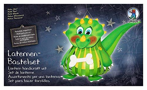 Ursus 18720002F - Laternen Bastelset Dino, Set zum Basteln einer Laterne, für Kinder, inklusive Bastelanleitung, ideal für den nächsten Laternenlauf