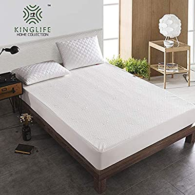 KingLife Mattress Topper Twin Deep Pocket Cool Touch Premium Advanced Machine Washable Mattress Cover Hypoallergenic Waterproof Knit Mattress Protector for Thanks Giving