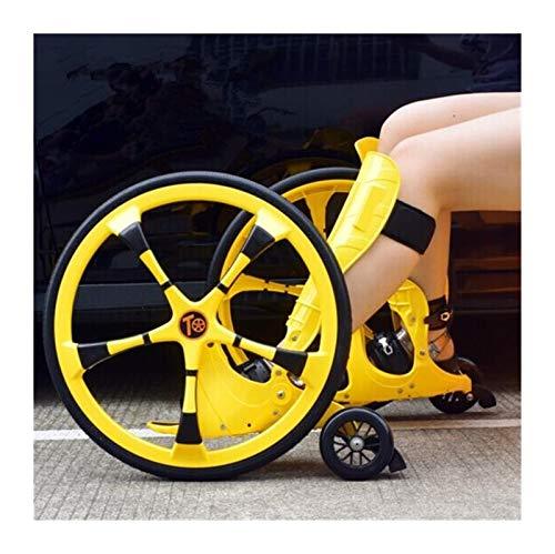 Youpin Patines de patinaje en línea con ruedas inflables grandes, para adultos, tamaño 37-45, monopatín Freeline (color: amarillo)