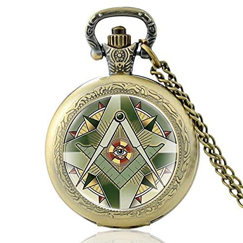 TUDUDU Bronce Antiguo El Ojo De Dios Cabujón De Cristal Reloj De...