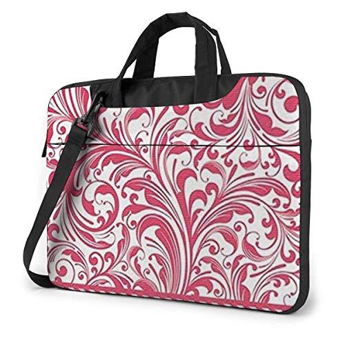 Red Plants Laptop Bag Shoulder Messenger Bag Computer Tote Briefcase for Work School