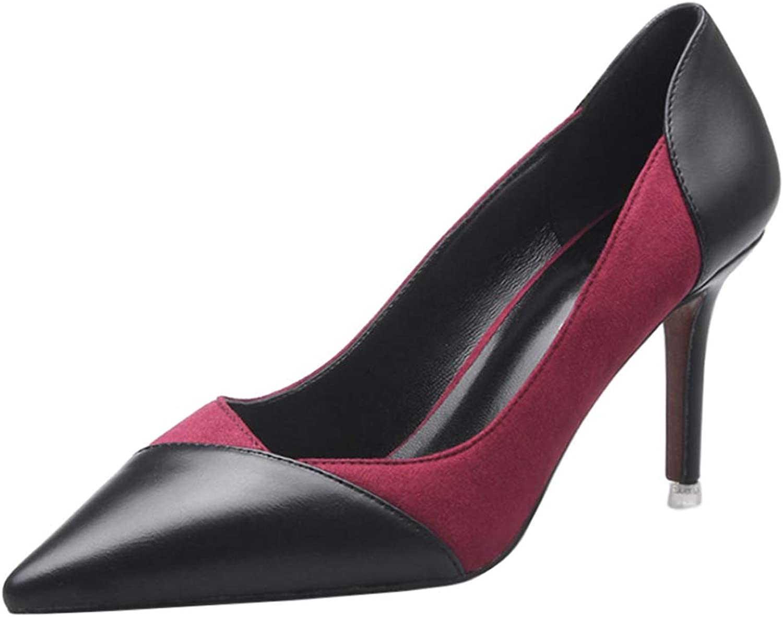 Yudesun Ladies High Heel Pumps - Women Slip On Pumps Pointed Toe Elegant Formal Shallow Court shoes