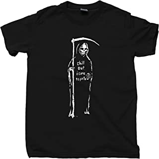 Grim Reaper T Shirt Chill Out I Came to Party Tee