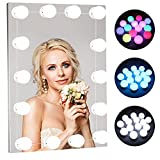 LED Vanity Mirror Lights Kit:RGB Colorful DIY Hollywood Style LED Makeup Mirror Lights with 14 Dimmable Light Bulbs