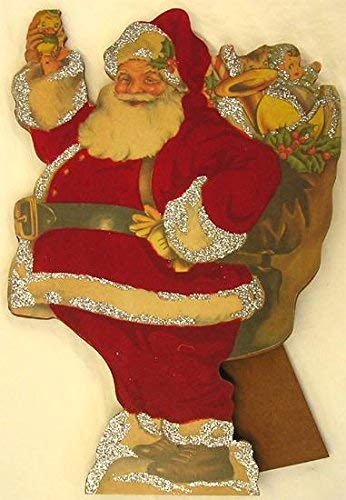 TSHOME Santa Claus With Presents Table Topper Metal Tin Sign Retro Vintage Aluminum Signs for Wall Decor Shabby Chic 8x12inch