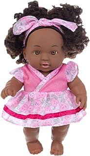 ValueVinylArt 20Cm Baby Play Dolls Black Girl Dolls African American Play Dolls Lifelike Child Simulation Baby Doll Black ...