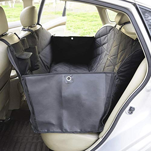 Rear Car Seat Cover for Dogs Black Dog Car Covers Back Seat for Car Trucks and SUVs