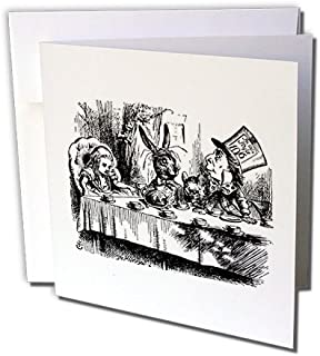 Mad Hatter tea party, Alice in Wonderland - Greeting Card, 6 x 6 inches, single (gc_193788_5)