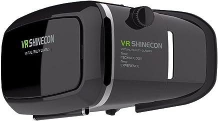 SantisRR 8125678 VR 耳机眼镜虚拟现实手机 3D 电影,适用于 iPhone 6s/6 plus/6/5s/5c/5 Samsung Galaxy S5/S6/note4/note5 和其他 4.7 英寸 - 6.0 英寸手机