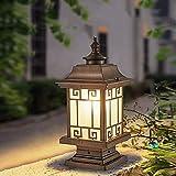 Lampada da parete semplice e fresca Paesaggio rurale Impermeabile Colonna luminosa da esterno Lampada a colonna Cortile comunitario Giardino Prato Luce da pavimento Cortile rustico Paesaggio Lampioni