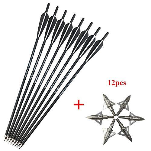 SHARROW 12 x Armbrustbolzen Armbrustpfeile Carbonpfeile 16