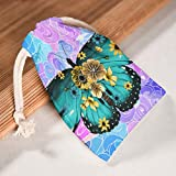 XJJ88 Shutterstock 1441865540 - Bolsa de Almacenamiento con cordón, diseño de Estampado de Temas, Bolsas Transpirables para Regalo de Acción de Gracias, Regalos de Boda, Tela, Blanco, 20 * 25cm
