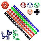16 Stücke 24 Blöcke Puzzle Würfel,Magische Geschwindigkeit Würfel,Mini Magische Schlange Würfel...