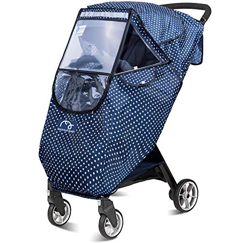 Stroller Rain Cover Universal, Baby Travel Weather Shield,Protect from Rain Snow Dust Insects Waterproof Windproof,Easy to Install and Remove