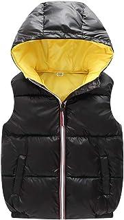 Shengwan Dziecięca kamizelka zimowa dla chłopców i dziewczynek, ciepła kamizelka puchowa, bez rękawów, kurtka zimowa
