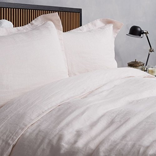 100% Pure French Linen - Single Duvet Cover Blush Pink