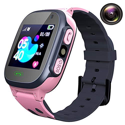 Smartwatch Niños Relojes Telefono - Reloj Inteligente Niños AGPS LBS Tracker, Reloj Inteligente Niña de Cámara Alarma SOS Llamadas Linterna, Reloj Móvil Regalo para Niño Niña Estudiante de 3-12 Años