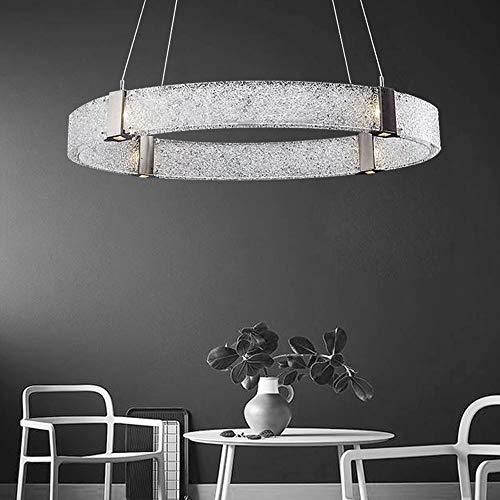 DKee Nórdico moderno minimalista creativo cristal lujo diamante araña Villa salón comedor dormitorio deco anillo luz cálida lámparas LED diámetro 60 cm