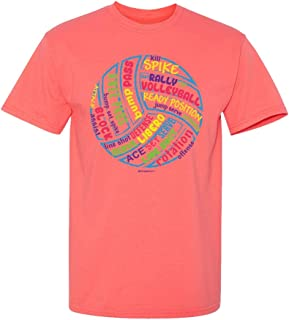 Imgae Sport - Volleyball - Ball Words Hot Coral T-Shirt