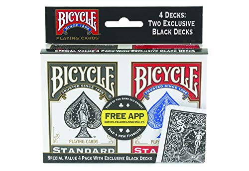 Sale!! Bicycle Playing Cards - Poker Size - 4 Pack