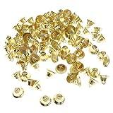 金属製 金色 ジングルベル DIYクラフト クリスマスデコレーション パーティー小道具 約100個 2サイズ - 20mm