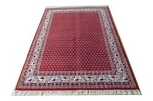 RaumTex Heinrich Sarough Mir, rot, Orientteppich, handgeknüpft, Verschiedene Größen (90 x 160 cm)