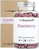Original TheOrganical® Cranberry Kapseln | 100% natürlicher Extrakt | Volle Wirkung | 120 Kapseln mit 450 mg Cranberries | Made in Hamburg