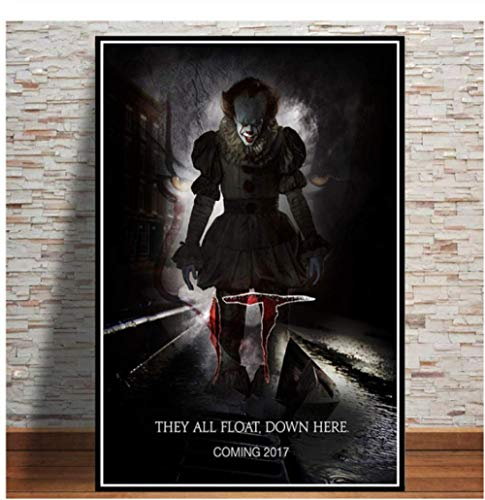 H/A Stephen King Penives Thriller, Digital Painting, Simple And Stylish Diy Canvas Poster, Home/Kids Room/Bar Decoration Art 40X60Cm Y7172