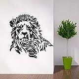 pabear Wall Quotes Decal Wall Stickers Art Decor Lion Silhouette Design Predator Animal Zoo Wild Lion Home Decor