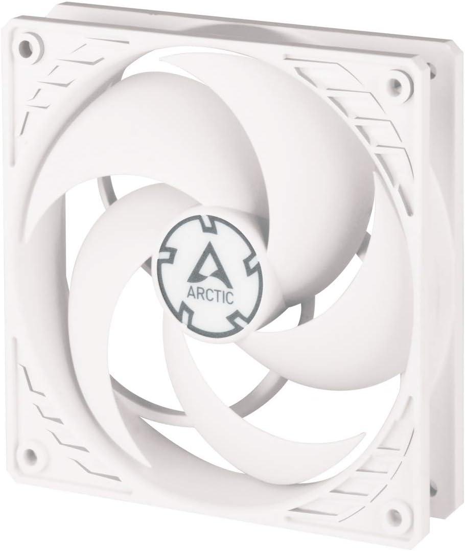 ARCTIC P12 PWM - 120 mm Ventilador de Caja para CPU con PWM, Computadora, 200-1800 RPM - Blanco/Blanco